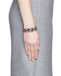 Erickson Beamon | Purple 'lady Of The Lake' Swarovski Crystal Bracelet | Lyst
