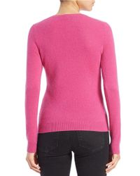 Lord & Taylor | Pink Cashmere Crewneck Sweater | Lyst