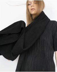 Zara | Black Cashmere Scarf Cashmere Scarf | Lyst