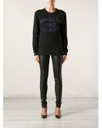 Brooklyn We Go Hard - Black Brooklyn Parle Francais Printed Sweater - Lyst