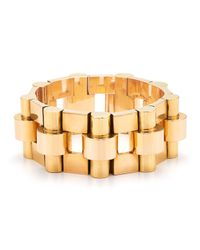 Fred Leighton | Estate Vintage 18K Yellow And Rose Gold Bracelet | Lyst
