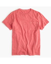 J.Crew - Red Tall Garment-dyed T-shirt for Men - Lyst