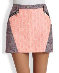 Rebecca Minkoff | Pink Daryl Tweed Mini Skirt | Lyst