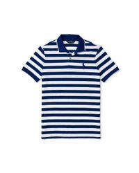 Ralph Lauren - White Slim-fit Striped Piqué Polo for Men - Lyst