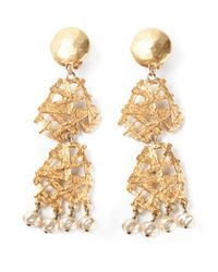 Christian Lacroix | Metallic Arabesque Baroque Earrings | Lyst