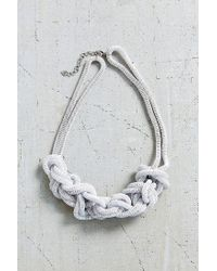Urban Outfitters | White Museum Walls Knotted Necklace | Lyst