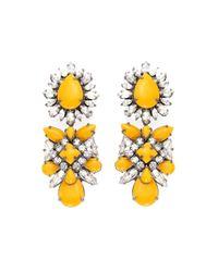 Shourouk | Yellow Blondie Safran Earrings | Lyst