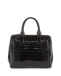 e5a28e6f348ec Nancy Gonzalez. Women s Black Small Modern Double-Zip Crocodile Tote Bag
