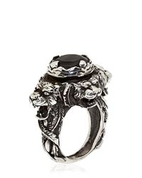 KD2024 | Black Hand-engraved Jaguar Ring for Men | Lyst