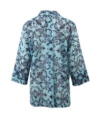 ESCADA | Blue Nizza Print Top | Lyst