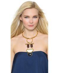 Lizzie Fortunato - Metallic Column Necklace - Gold Multi - Lyst