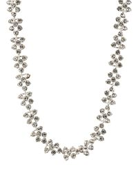 Anne Klein | Metallic Crystallized Silvertone Collar Necklace | Lyst