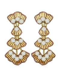 Suzanna Dai | Metallic Tunis Drop Earrings, Gold/opal | Lyst