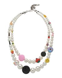 Venessa Arizaga | White Necklace | Lyst