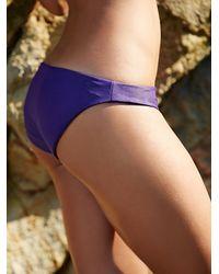Free People | Purple Zuma Basic Bottom Strappy Racer Back Swim Top | Lyst