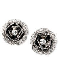 Betsey Johnson | Pink Rose Bud Stud Earrings | Lyst