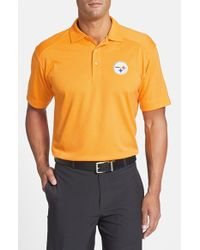 Cutter & Buck | Metallic Pittsburgh Steelers - Genre Drytec Moisture-Wicking Polo Shirt for Men | Lyst