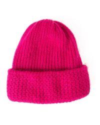 Tak.ori - Pink Knitted Beanie - Lyst