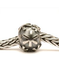 Trollbeads - Metallic Snow Silver Charm Bead - Lyst