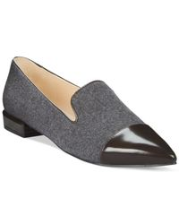 Nine West | Gray Trainer Pointed Toe Flats | Lyst