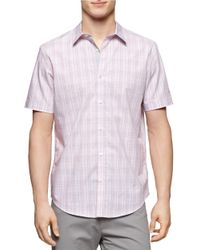 Calvin Klein | Purple Multi Check Plaid Sportshirt for Men | Lyst