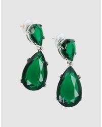 Kenneth Jay Lane | Green Embellished Earrings | Lyst