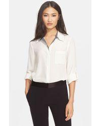 Diane von Furstenberg | White 'Lorelei' Silk Shirt | Lyst