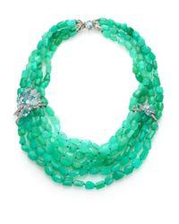 Alexis Bittar Fine | Mint Marquis Chrysophase, Blue Topaz, Quartz, Sapphire & Sterling Silver Four-Strand Necklace | Lyst