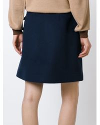 J.W.Anderson | Blue Buckled A-line Skirt | Lyst