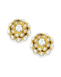 Kate Spade | Metallic Earrings, 12k Gold-plated Crystal Ball Stud Earrings | Lyst