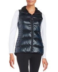 Calvin Klein | Blue Fleece Collar Puffer Vest | Lyst