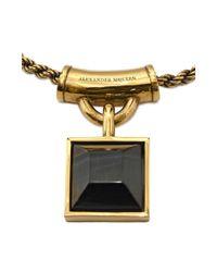 Alexander McQueen | Metallic Square Enamel Necklace | Lyst