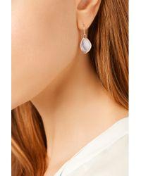 Monica Vinader - Pink Siren Teardrop Rose Gold-plated Agate Earrings - Lyst