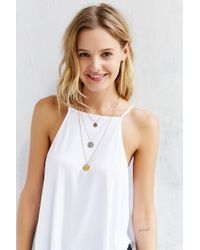 Urban Outfitters - Metallic Flat Disc Triple Tier Necklace Set - Lyst