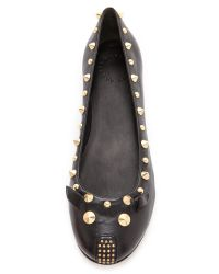 Marc By Marc Jacobs | Black Punk Mouse Ballerina Flats | Lyst