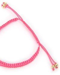 Juicy Couture | Pink Je T'aime Macrame Bracelet | Lyst