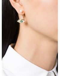 Delfina Delettrez - Green 'eyes On Me Piercing' Emerald And Diamond Earring - Lyst