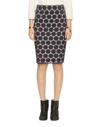 kate spade new york | Blue Dot Lace Pencil Skirt | Lyst