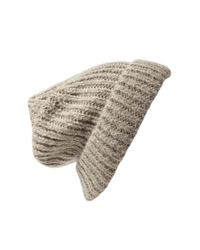 Forever 21 | Brown Chunky Knit Fold-Over Beanie | Lyst