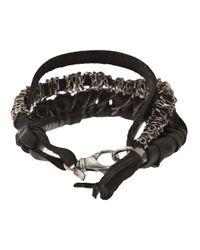 Emanuele Bicocchi - Black Twisted Bracelet for Men - Lyst