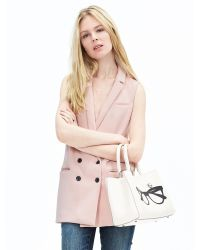 Banana Republic | Pink Double-breasted Long Vest | Lyst