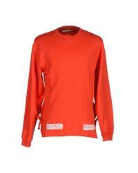 Off-White c/o Virgil Abloh - Red Sweatshirt for Men - Lyst