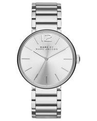 Marc By Marc Jacobs - Metallic Women's Peggy Stainless Steel Bracelet Watch 36mm Mbm3400 - Lyst