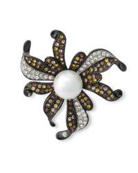 Kenneth Jay Lane | Multicolor Multi Topaz Flower Brooch | Lyst