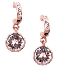 Givenchy   Pink Rose Gold And Swarovski Crystal Drop Earrings   Lyst