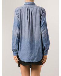 Current/Elliott - Blue 'The Prep School' Shirt - Lyst