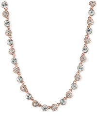 Givenchy | Pink Rose Gold-tone Crystal Collar Necklace | Lyst