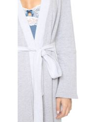 Fleur't - Gray Close To Me Robe - Lyst