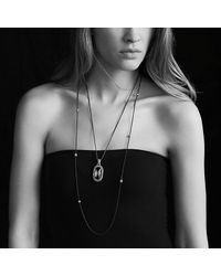 David Yurman - Blue Midnight Mélange Chain Necklace With Diamonds - Lyst