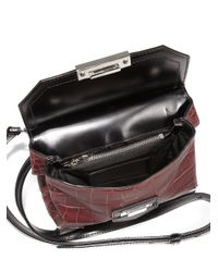 Alexander Wang Red Marion Prisma Embossed Leather Crossbody Bag